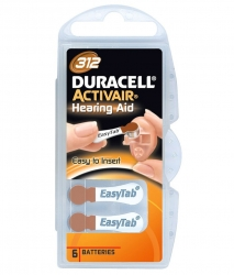 Батарейки Activair Duracell P 312 - Батарейки для слуховых аппаратов