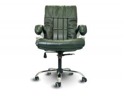 Офисное массажное кресло EGO BOSS EG1001 малахит в комплектации ELITE (натуральная кожа) - Офисные массажные кресла