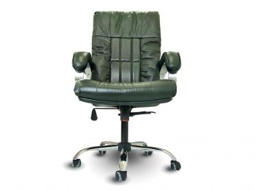 Офисное массажное кресло EGO BOSS EG1001 малахит в комплектации ELITE (натуральная кожа)