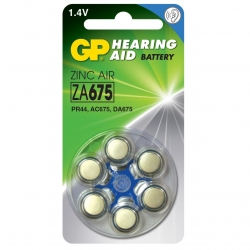 Аккумуляторы GP 675 - Батарейки для слуховых аппаратов