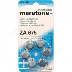 Батарейки Maratone+ Renata 675 - Батарейки для слуховых аппаратов
