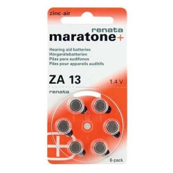 Батарейки Maratone + Renata 13 - Батарейки для слуховых аппаратов