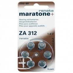 Батарейки Maratone + Renata 312 - Батарейки для слуховых аппаратов